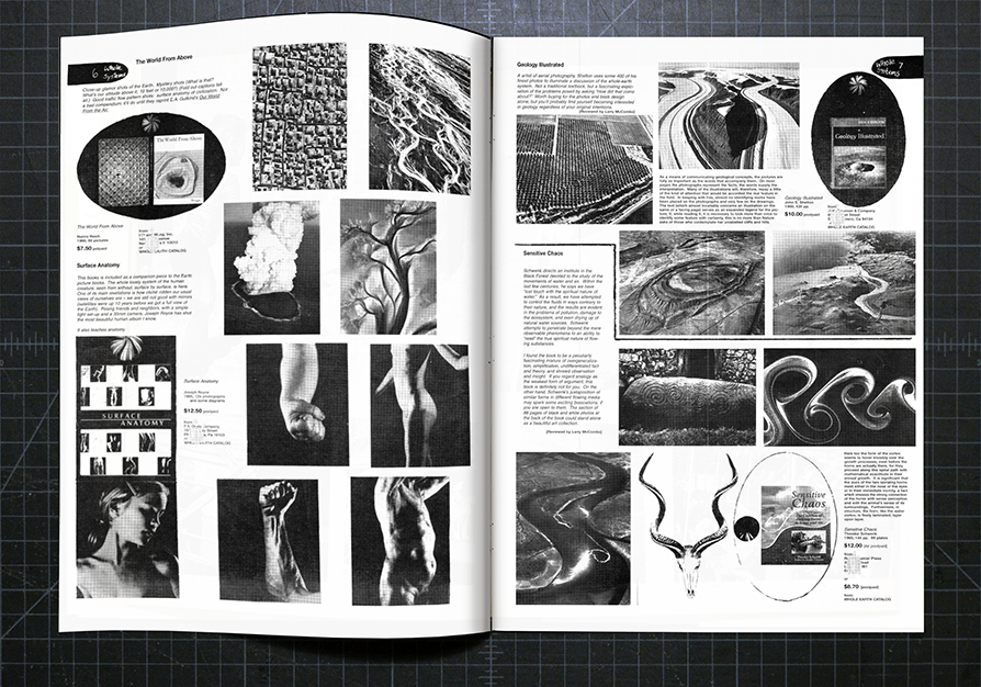 Spread from the Whole Earth Catalog